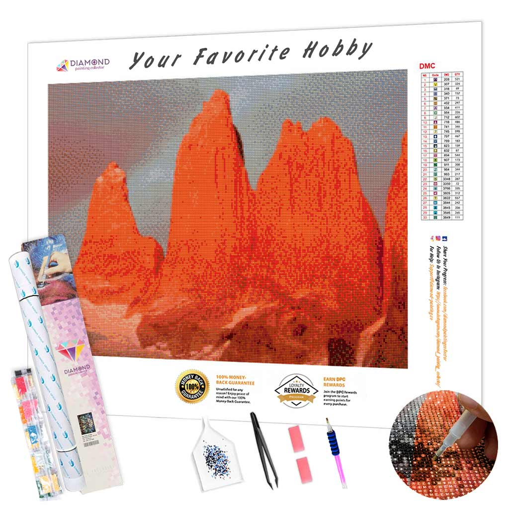 Torres del Paine DIY Diamond Painting Kit