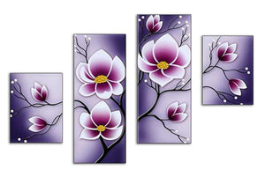 Tranquility Flowers сombination 4pcs/set DIY Diamond Painting Kit