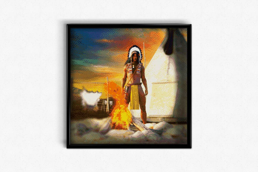 Tribal Warrior DIY Diamond Painting Kit