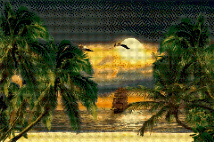 Tropical Island DIY Diamond Painting Kit