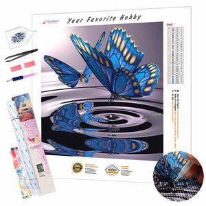 Two Butterflies on the Water DIY Diamond Painting Kit