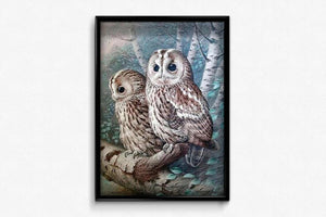 Two Owls DIY Diamond Painting Kit