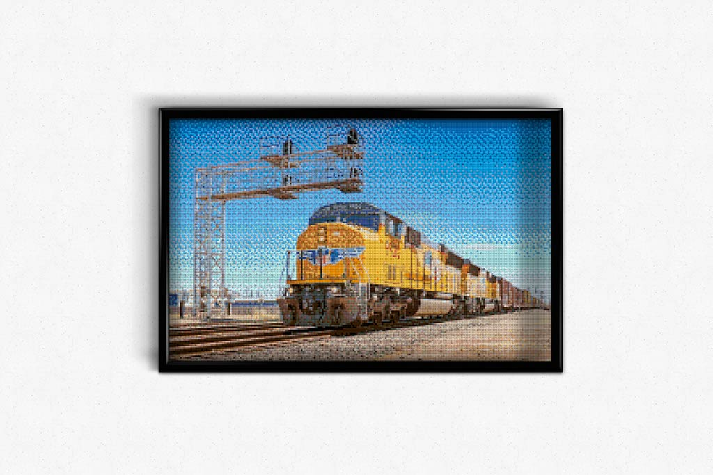 USA Railway DIY Diamond Painting Kit