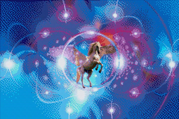 Unicorn Lights DIY Diamond Painting Kit