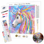 Load image into Gallery viewer, Unicorn with Feathers DIY Diamond Painting Kit