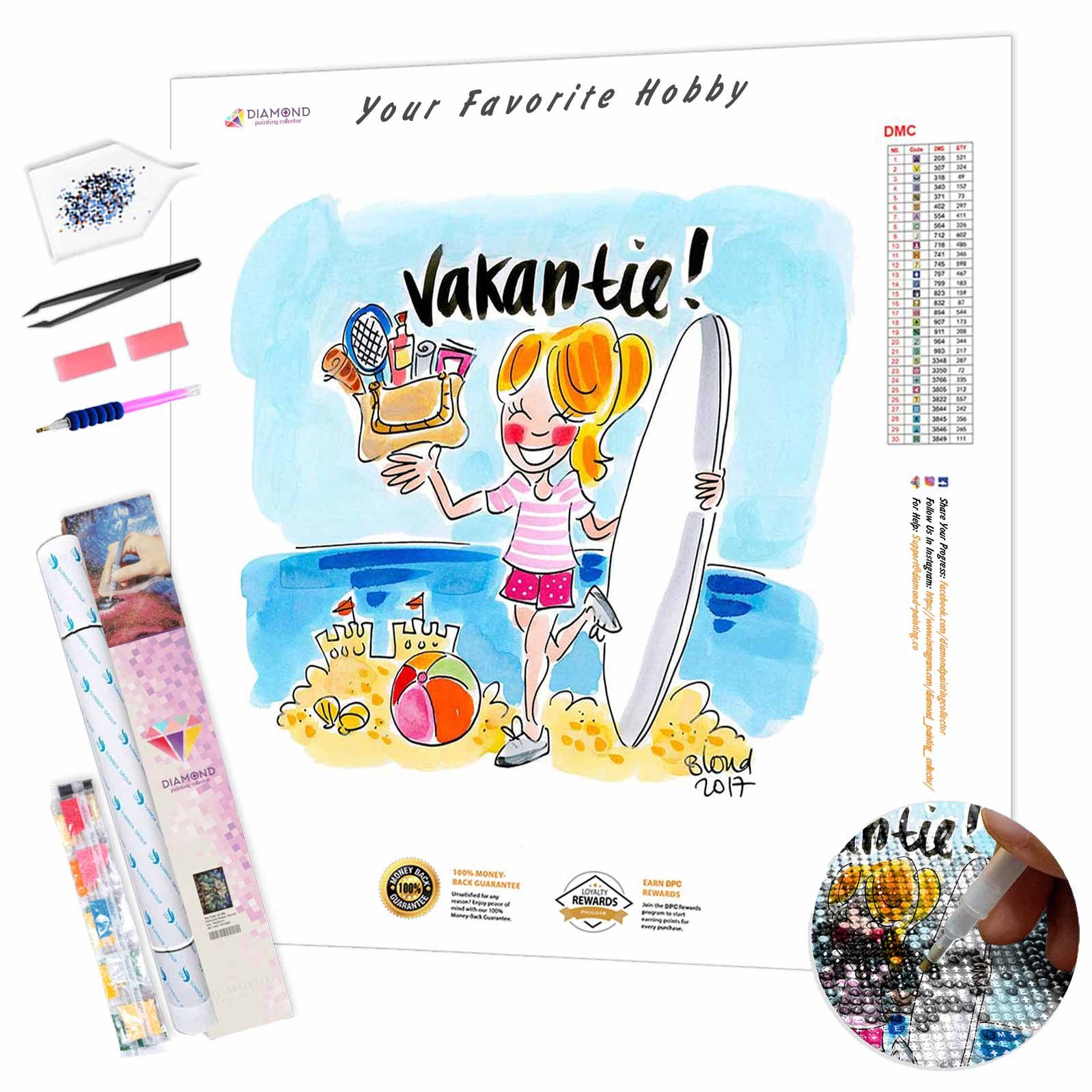 Vakantie DIY Diamond Painting Kit