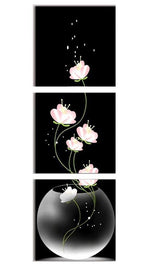 Load image into Gallery viewer, Vertical Flowers in Aquarium 3pcs/set DIY Diamond Painting Kit