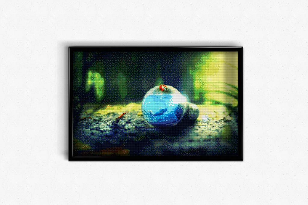 Water World in a Light Bulb DIY Diamond Painting Kit