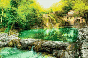 Waterfall at the Mill DIY Diamond Painting Kit