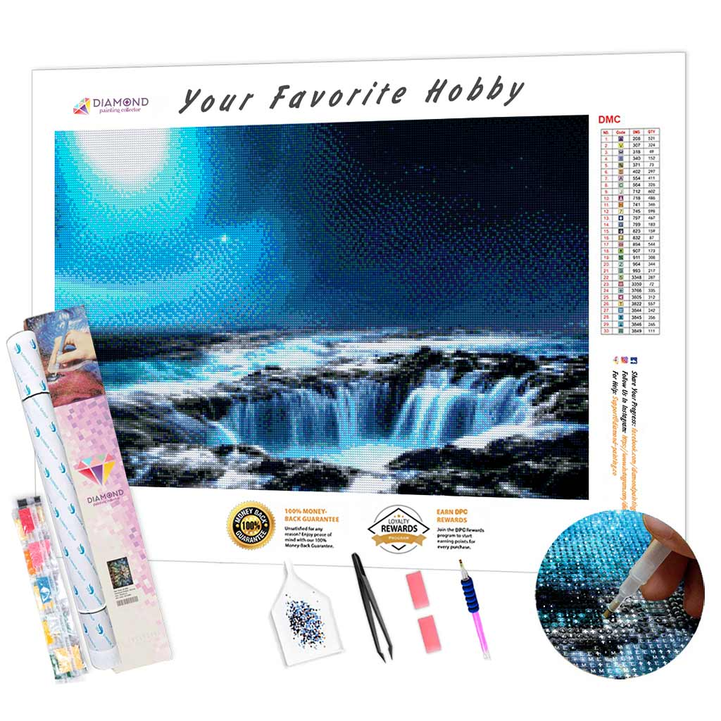 Waterfalls Night DIY Diamond Painting Kit