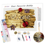 Load image into Gallery viewer, Wellcome Inscription DIY Diamond Painting Kit