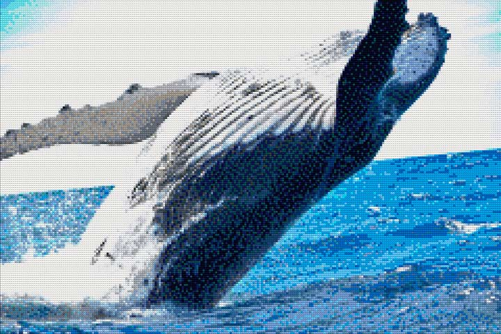 Whale in the Ocean DIY Diamond Painting Kit