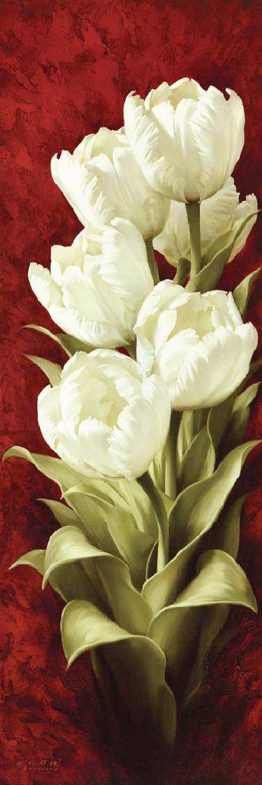 White Tulips DIY Diamond Painting Kit