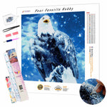 Load image into Gallery viewer, Winter Eagle DIY Diamond Painting Kit