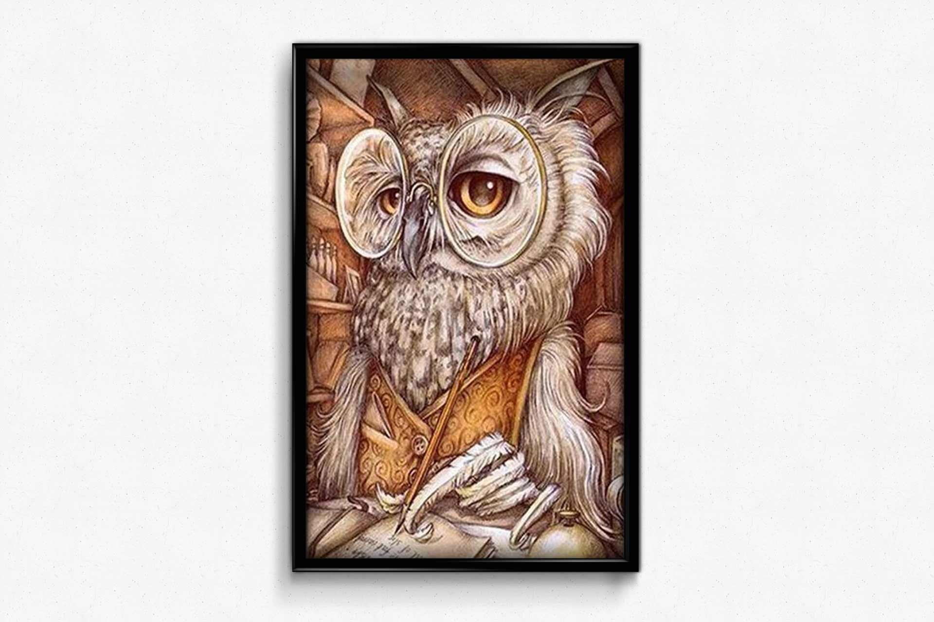 Wise Owl DIY Diamond Painting Kit