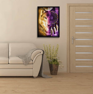 Wolf Feather DIY Diamond Painting Kit