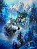 Load image into Gallery viewer, Wolves and Mountains DIY Diamond Painting Kit