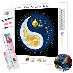 Yin Yang Day and Night DIY Diamond Painting Kit