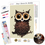Load image into Gallery viewer, Сoffee Owl DIY Diamond Painting Kit