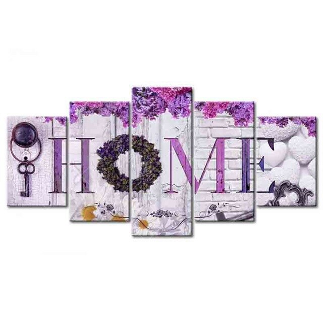 Home Decoration 5 pc DIY Diamond Painting Kit