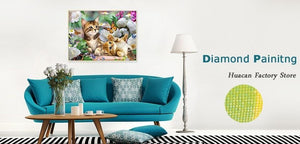 Butterflies, Flowers and Cats DIY Diamond Painting Kit