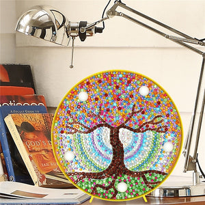 Two Sides of the Tree LED Lamp DIY Diamond Painting