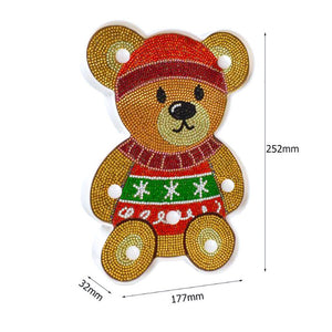 Bear holds the Heart LED Lamp Light DIY Diamond Painting