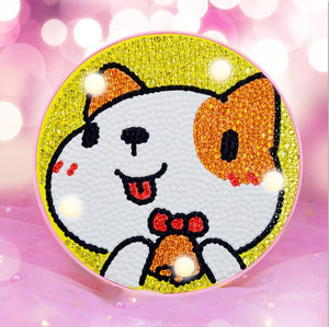 LED Lamp Cat Red Ears DIY Diamond Painting