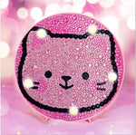 Load image into Gallery viewer, Pink Kitten Round LED Lamp DIY Diamond Painting