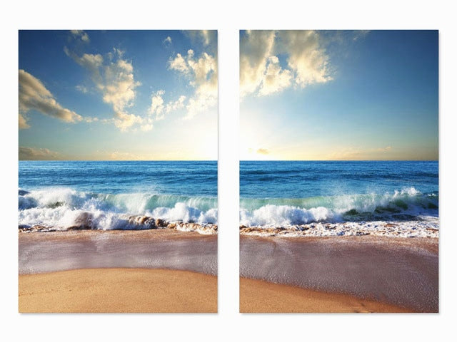 Multi-picture Sea Waves 2pcs/set DIY Diamond Painting Kit