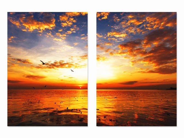 Sunset Crimson Water 2pcs/set DIY Diamond Painting Kit