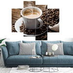 Load image into Gallery viewer, Hot Coffee with Beans сombination 4pcs/set DIY Diamond Painting Kit