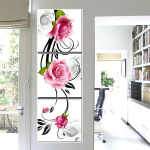 Vertical combination Curly Rose Buds 3pcs/set DIY Diamond Painting Kit