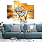 Load image into Gallery viewer, Multi-picture combination Two Tigers 4pcs/set DIY Diamond Painting Kit
