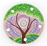 Load image into Gallery viewer, Green Tree Round LED Lamp DIY Diamond Painting