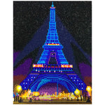 Load image into Gallery viewer, LED Lamp Light Blue Eiffel Tower DIY Diamond Painting