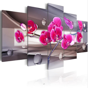 Multi-picture combination Tender Orchid 5pcs/set DIY Diamond Painting Kit