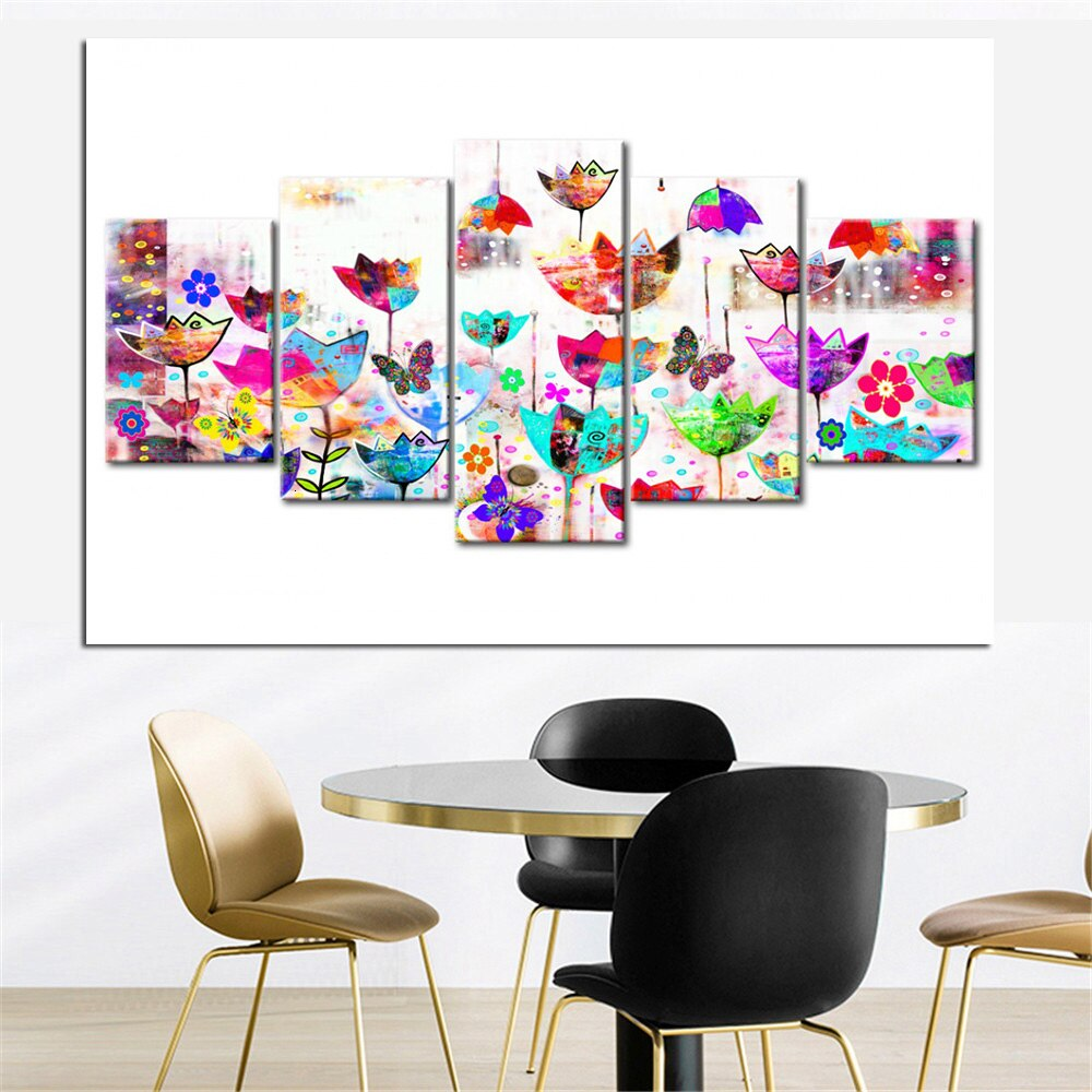 Multicolor Art Tulips сombination 5pcs/set DIY Diamond Painting Kit