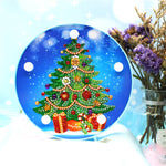 Load image into Gallery viewer, LED Lamp Elegant Christmas Tree DIY Diamond Painting