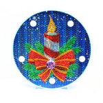 Load image into Gallery viewer, Christmas Сandle Round LED Lamp DIY Diamond Painting