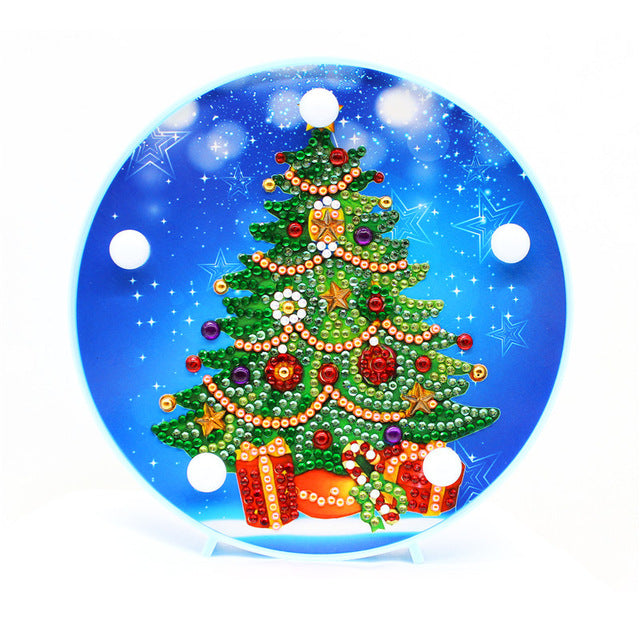 LED Lamp Elegant Christmas Tree DIY Diamond Painting