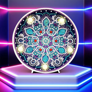 LED Lamp Six-pointed Snowflake Christmas Decorations DIY Diamond Painting