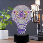 Load image into Gallery viewer, Purple Swallowtail LED Lamp Light DIY Diamond Painting