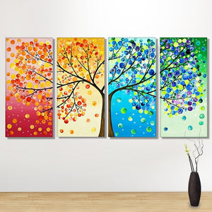 Colorful Four Seasons 4pcs/set DIY Diamond Painting Kit