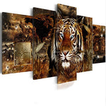 Load image into Gallery viewer, Mystical Tiger сombination 5pcs/set DIY Diamond Painting Kit