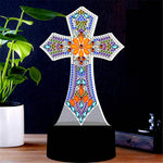 Load image into Gallery viewer, Precious Cross with Gems LED Lamp DIY Diamond Painting