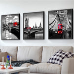 Load image into Gallery viewer, Black White Red London сombination 3pcs/set DIY Diamond Painting Kit