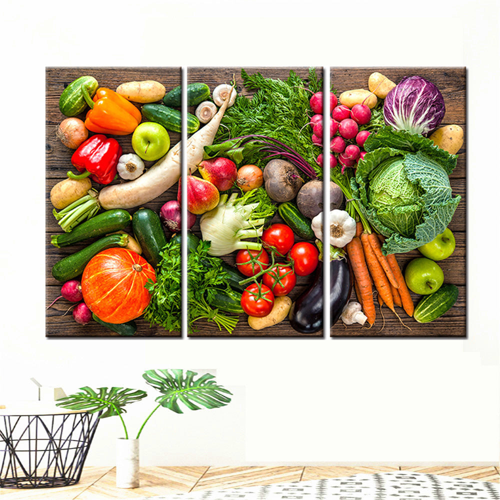 Multi-picture Vegetable Assortment 3pcs/set DIY Diamond Painting Kit