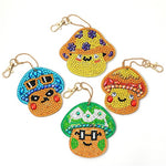 Load image into Gallery viewer, Funny Mushrooms Decorative Keychain DIY Diamond Painting