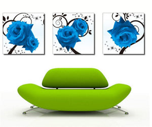 Multi-picture combination Blue Rose Buds 3pcs/set DIY Diamond Painting Kit